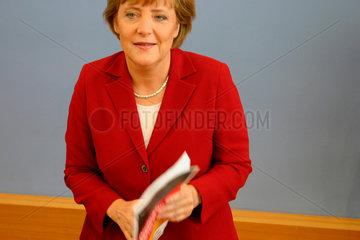Angela Merkel bei der presentation der CDU Wahprogramm