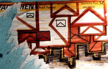 Briefumschlag Street art.