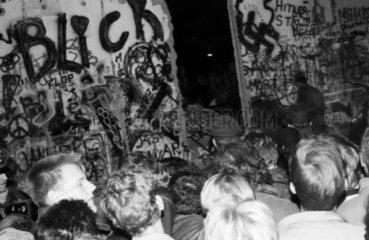 Berliner Mauerfall am Potsdamer Platz