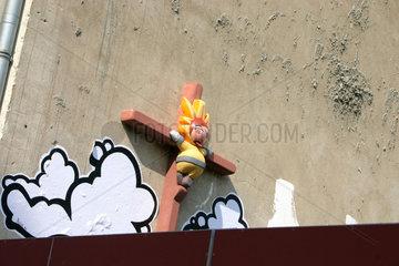 crucifix street art