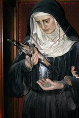Skulptur der Heilige Rita in eine Neapolitanische Kirche