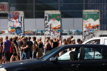 Berliner Mauer Reste am Potsdamer Platz.