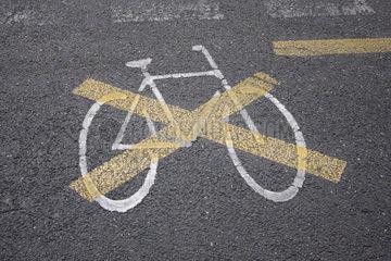 Kein Fahrradweg