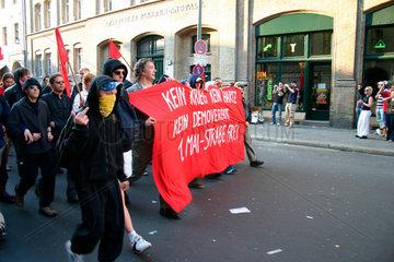 Berlin - Erster Mai Demonstration