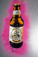 Berlin - Bierflasche Graffiti