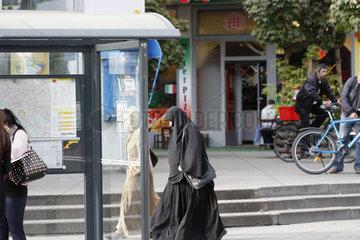 Bushaltestelle in Kreuzberg