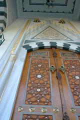 Eingangstuer der Moschee am Columbiadamm