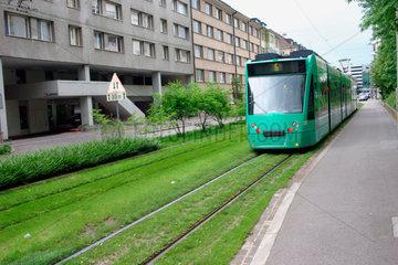 Schweiz. Basel - Strassenbahn in Basel