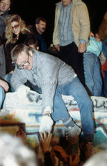 10.11.1989 Mauerfall am Brandenburger Tor