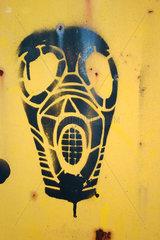 Gas mask street art