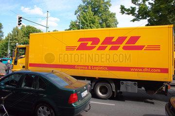 DHL Transporter der Deutsche Post