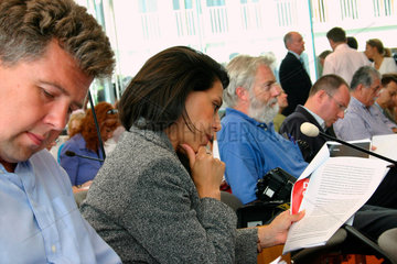 Journalisten bei der Bundespressekonferenz