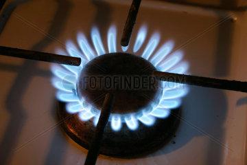 Flamme eine Gasherd