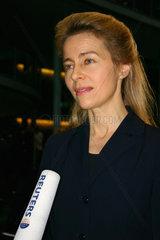 Ursula von der Leyen gibt eine Interwiew