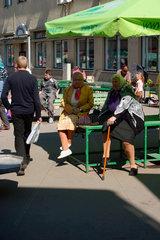 Markt von Riga. Marktszene.