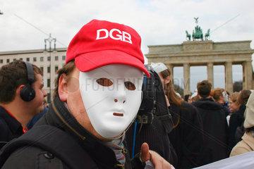 Berlin - Praktikanten Protestaktion gegen Ihre Ausbeutung