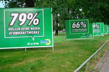 Gruene Wahlplakaten
