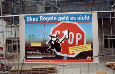 Plakat gegen Schwarzarbeit
