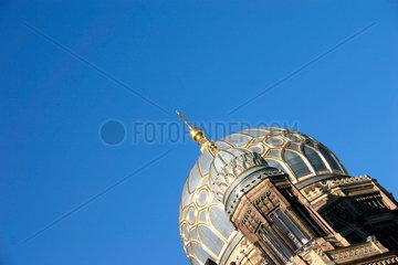 Berlin - Kuppel der Neue Synagoge in die Oranienburgerstrasse