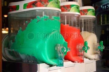 Fruchteismaschine und Italienische Farbe