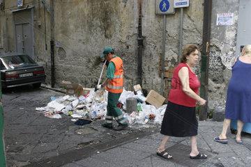 Strassenkehrer in Neapel
