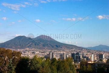 Neapel Der Vesuv