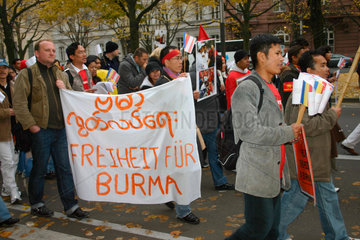 Berlin - Femonstration for freedom and human right in Birma