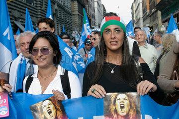 Rom Demonstration der Rechts Partei Alleanza Nazionale