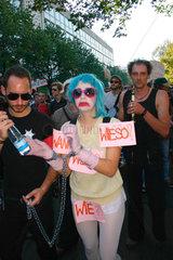 Demonstration gegen Ueberwachungsstaat und Vorratsdatenspeicherung