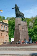 Gedimina der Grunder Held in die Altstadt von Vilnius