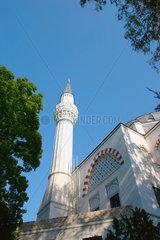 Berlin - Minarett der Moschee am Columbiadamm