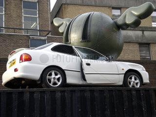 Auto nach eine Unfall