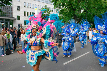 Berlin - brazilian Samba dancers at the carnival of culture