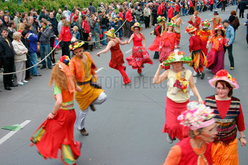 Berlin - italian tarantella dancers at the carnival of culture