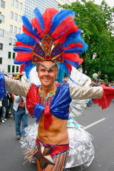 Berlin - brazilian Samba dancer at the carnival of culture