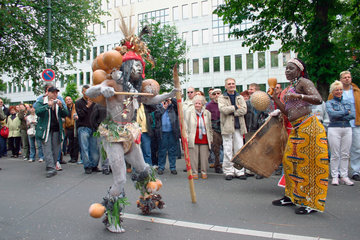 Berlin - carnival of culture dance and percussion from Benin