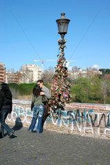 I love you forever. love and padlocks at Ponte Milvio