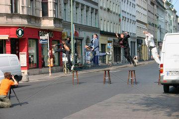 Germany. Berlin - Fotoshooting in die Oranienstrasse.