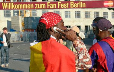 Fan Meile fuer die Fussball WM