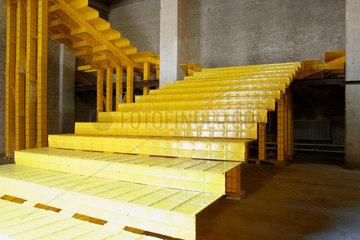 Berlin biennial for contemporary art. Yellow Escalator von Michael Beutler