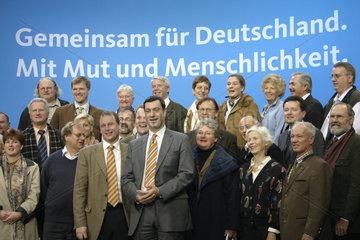 CSU Gruppenfoto beim Grosse Koalitionsvertrag Unterschreibung