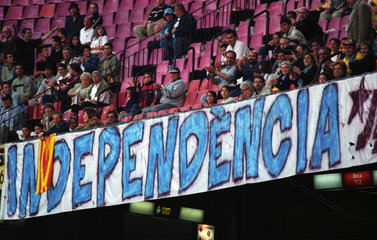 Ausdruck des Wunsches nach Unabhaengigkeit in Barcelona