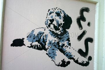Berlin. dog Street art