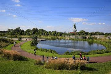 Essen  Ruhrgebiet  Deutschland  Krupp-Park  See  staedtebauliches Projekt Krupp-Guertel