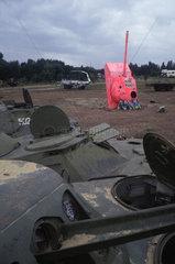 Panzerschrottplatz auf dem ehemaligene Todesstreifen