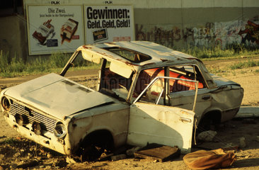 Niemansland als Schrottplatz