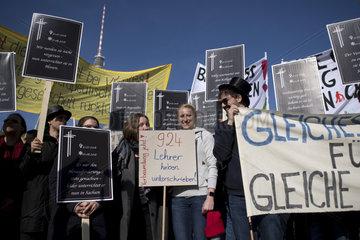 Lehrerprotest Parteitag SPD Berlin