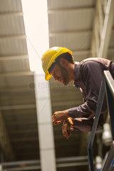 Factory worker in factory