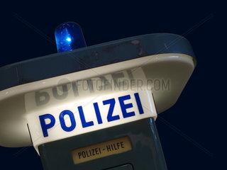 Notrufsaeule der Polizei