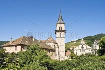 Overlooking the vineyards and the church of Saint Gregoire in Ribeauville